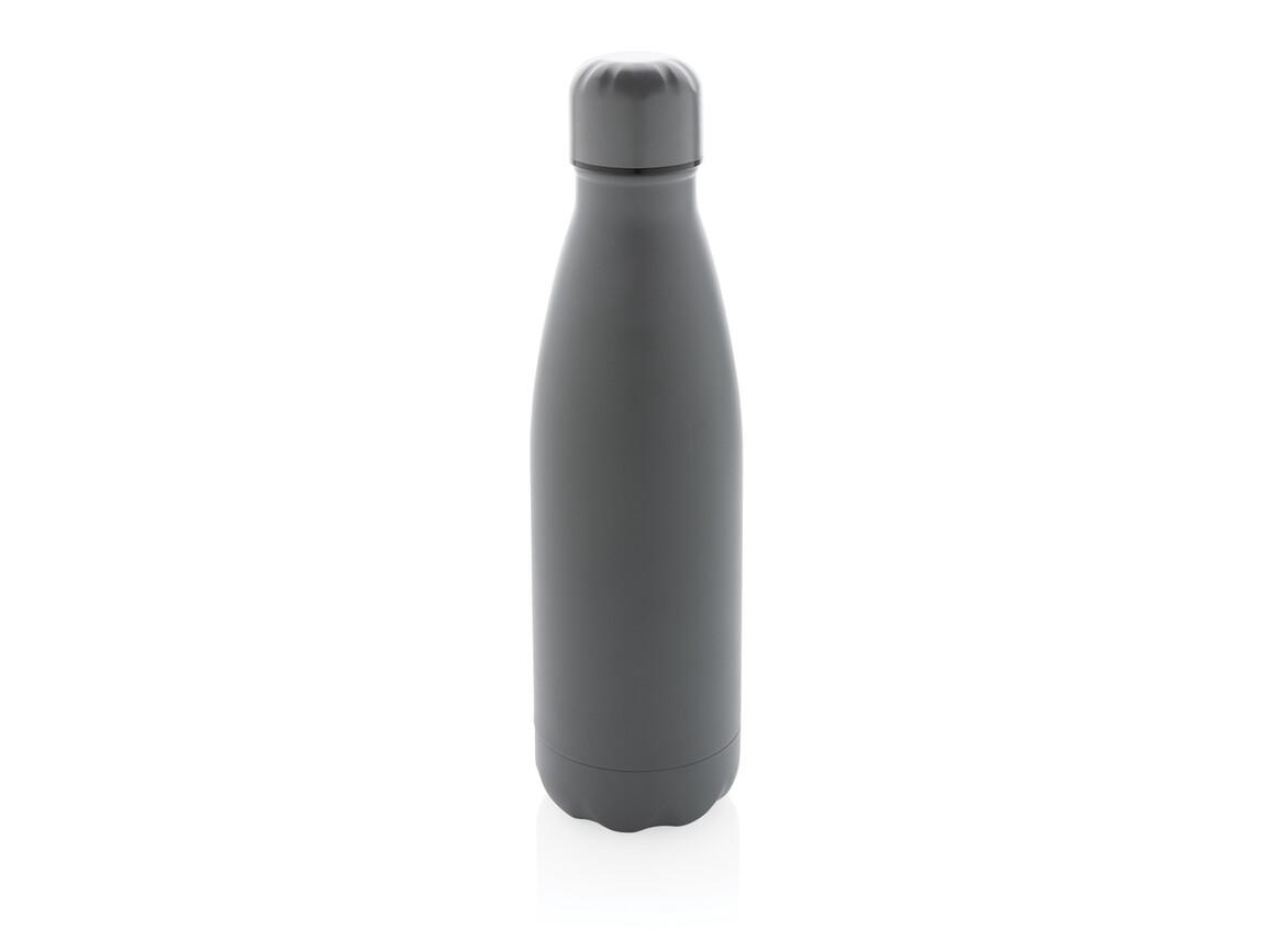 Einfarbige Vakuumisolierte Stainless Steel Flasche grau bedrucken, Art.-Nr. P436.462