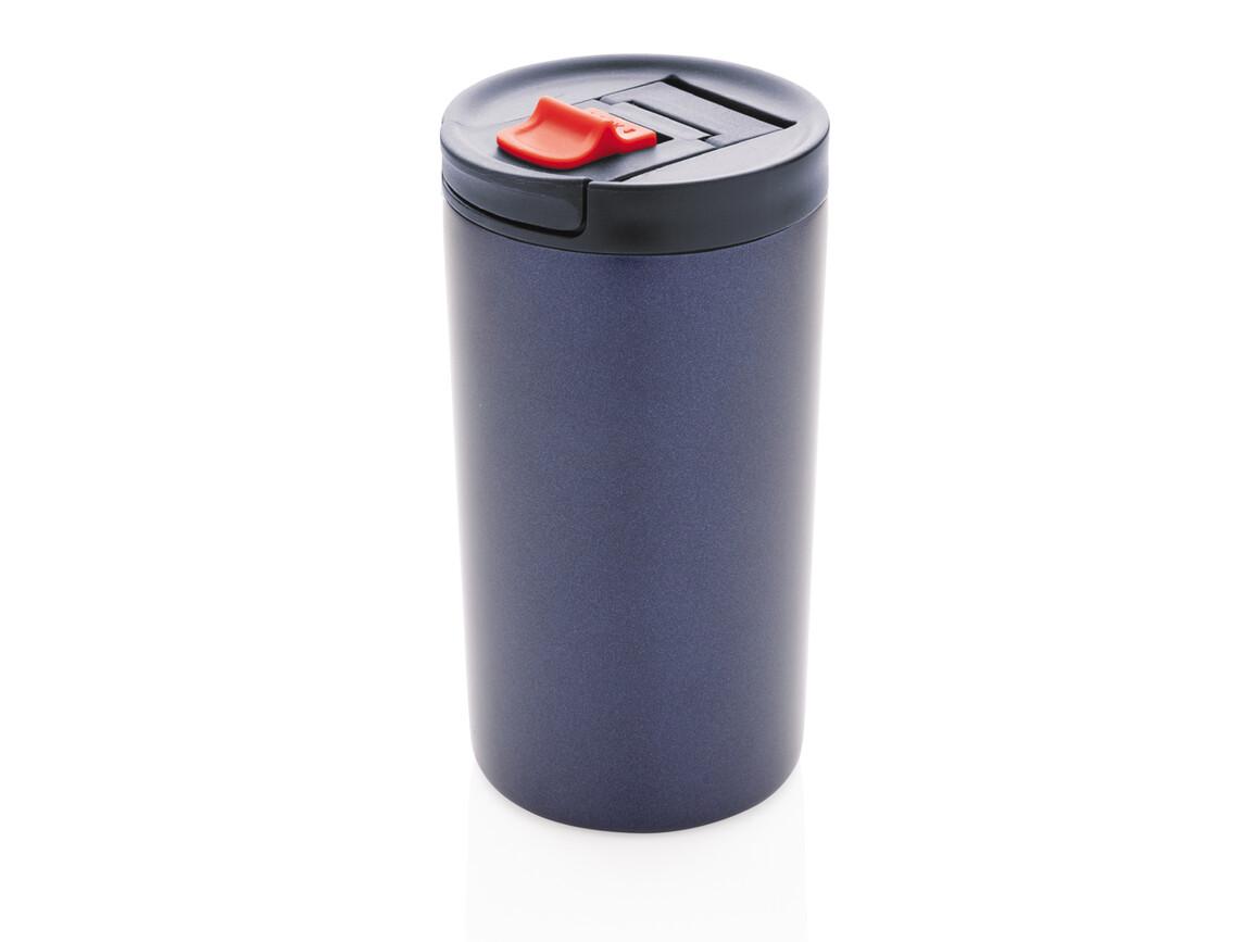 Doppelwandiger Vakuum-Becher 300ml blau, blau bedrucken, Art.-Nr. P432.645