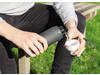 Impact auslaufsichere Tritan-Flasche schwarz, weiß bedrucken, Art.-Nr. P433.141