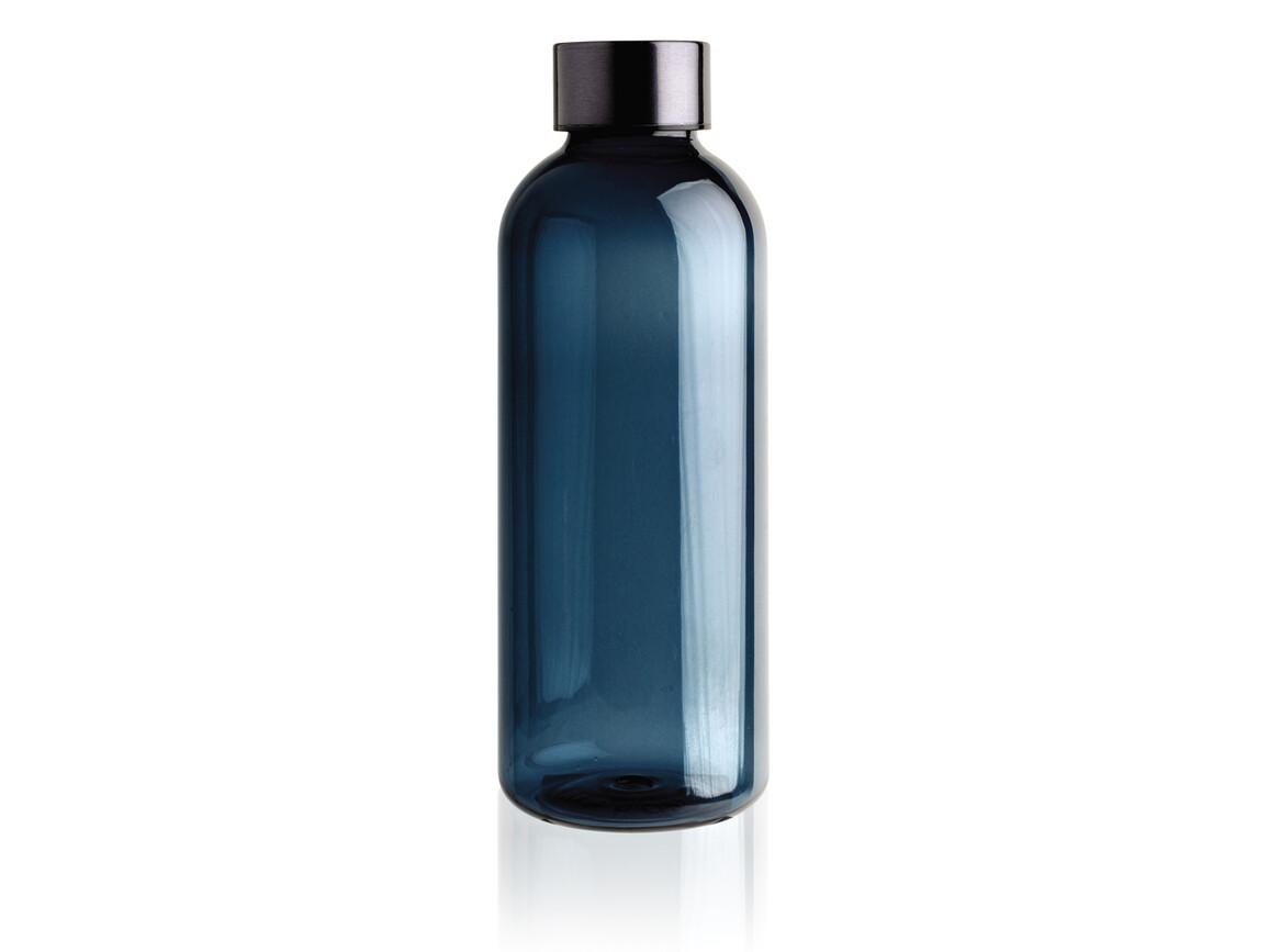 Auslaufsichere Trinkflasche mit Metalldeckel blau bedrucken, Art.-Nr. P433.445