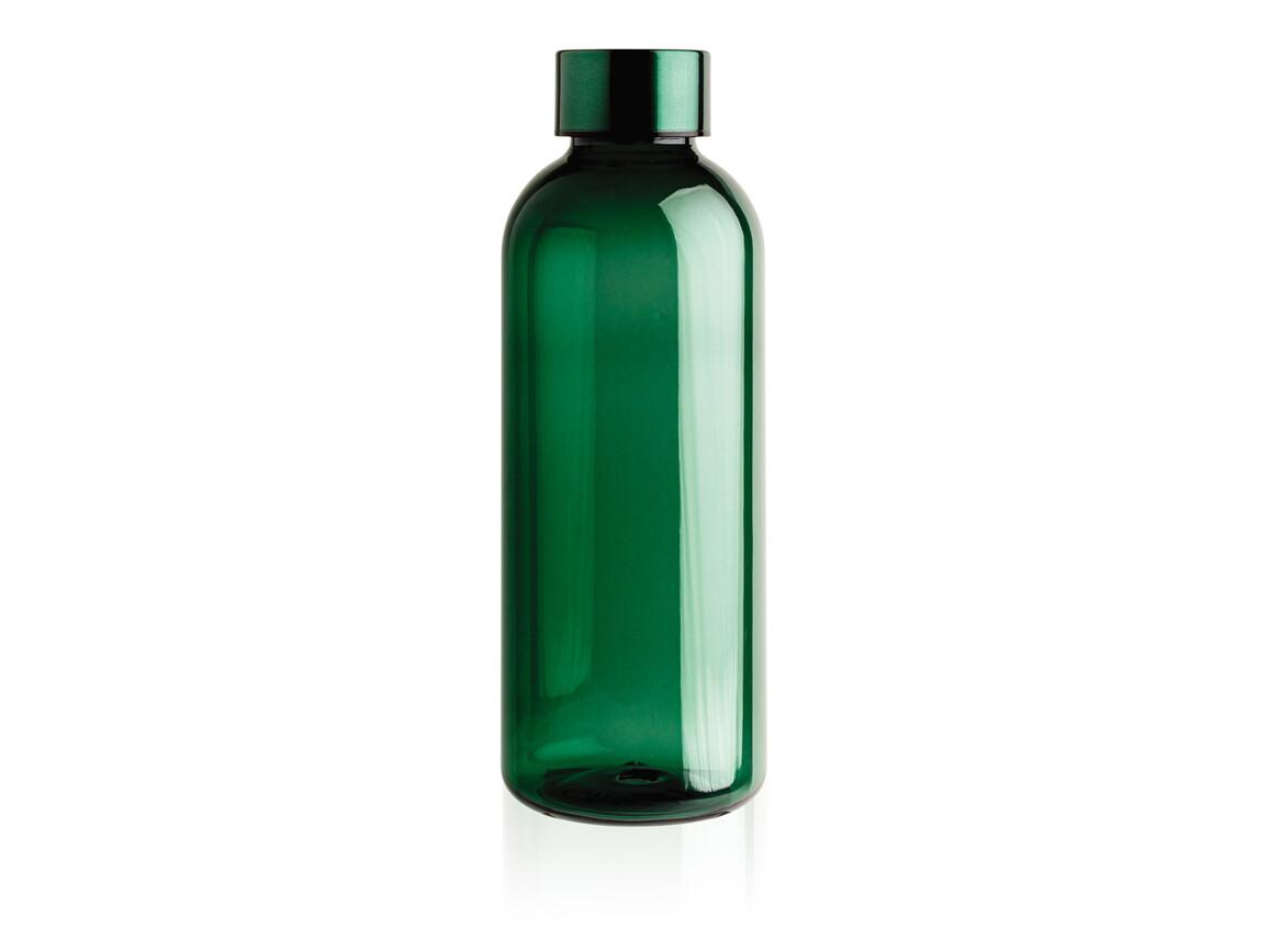 Auslaufsichere Trinkflasche mit Metalldeckel grün bedrucken, Art.-Nr. P433.447