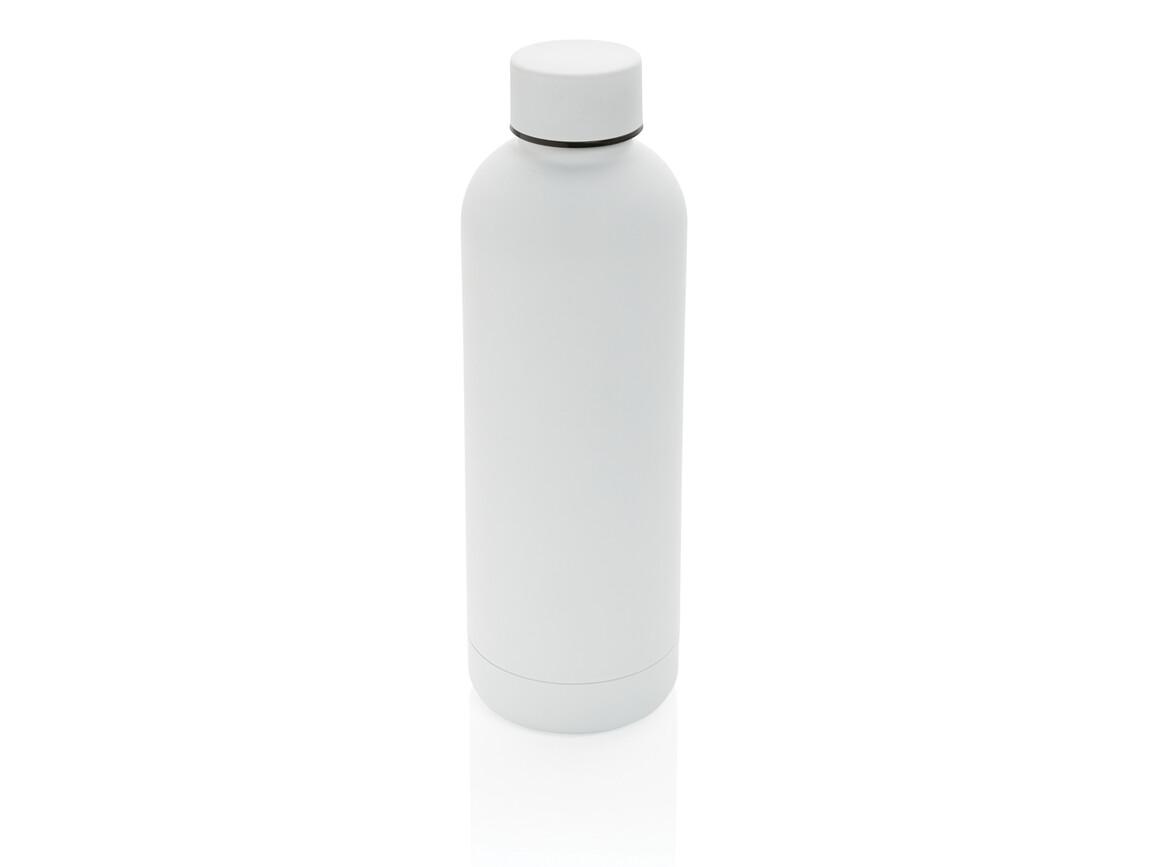 Impact doppelwandige Stainless Steel Vakuum-Flasche weiß bedrucken, Art.-Nr. P436.373