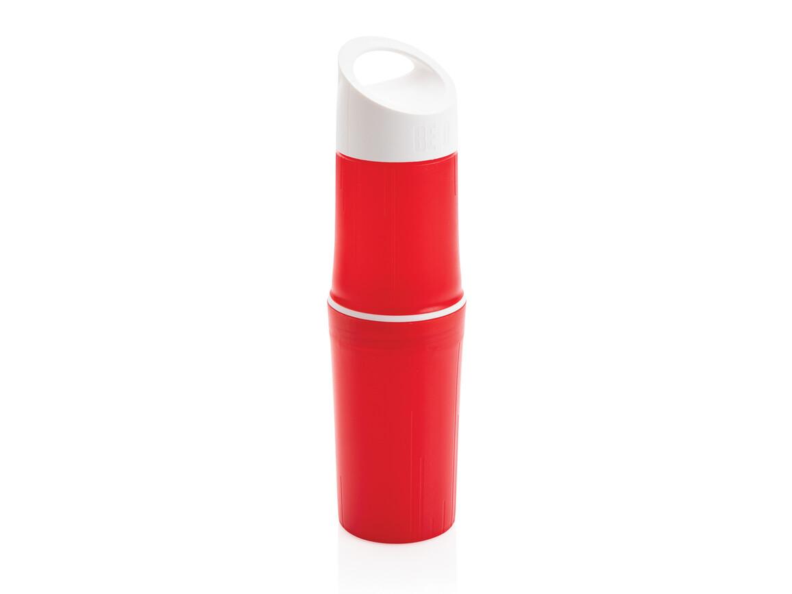 BE O Bottle, Wasserflasche Made In EU rot bedrucken, Art.-Nr. P433.124