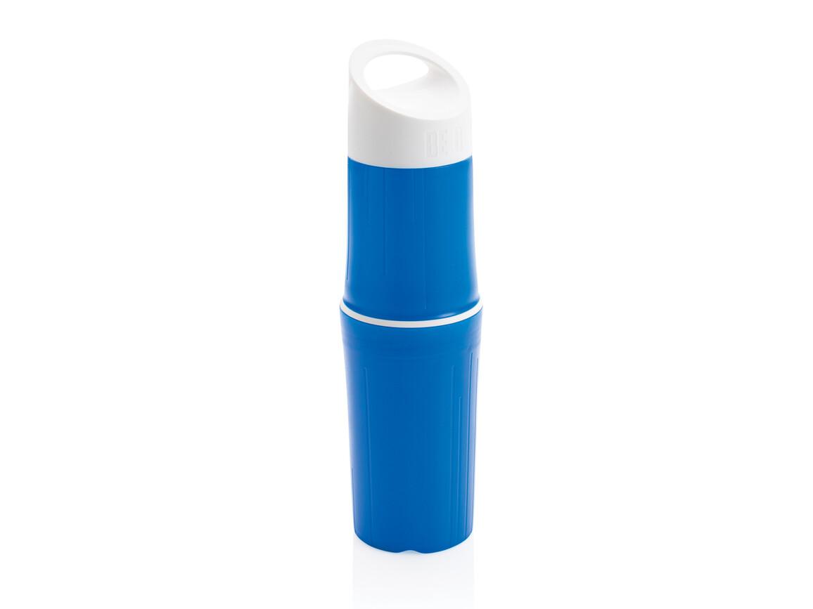 BE O Bottle, Wasserflasche Made In EU blau bedrucken, Art.-Nr. P433.125