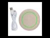 5W Weizenstroh Wireless Charger braun bedrucken, Art.-Nr. P308.729