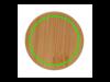 2-tlg Set Borosilikatgläser mit Bambusdeckel 250ml transparent bedrucken, Art.-Nr. P432.140