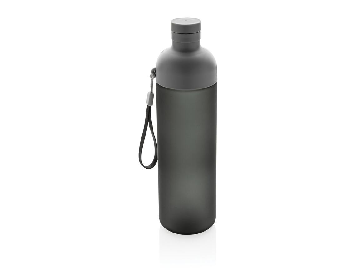Impact auslaufsichere Tritan-Flasche schwarz, grau bedrucken, Art.-Nr. P433.181