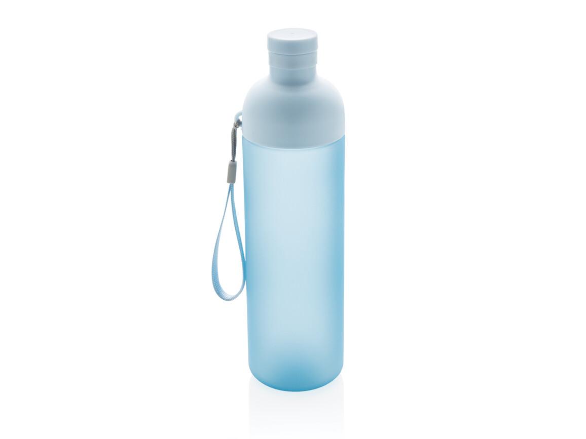 Impact auslaufsichere Tritan-Flasche blau, blau bedrucken, Art.-Nr. P433.185