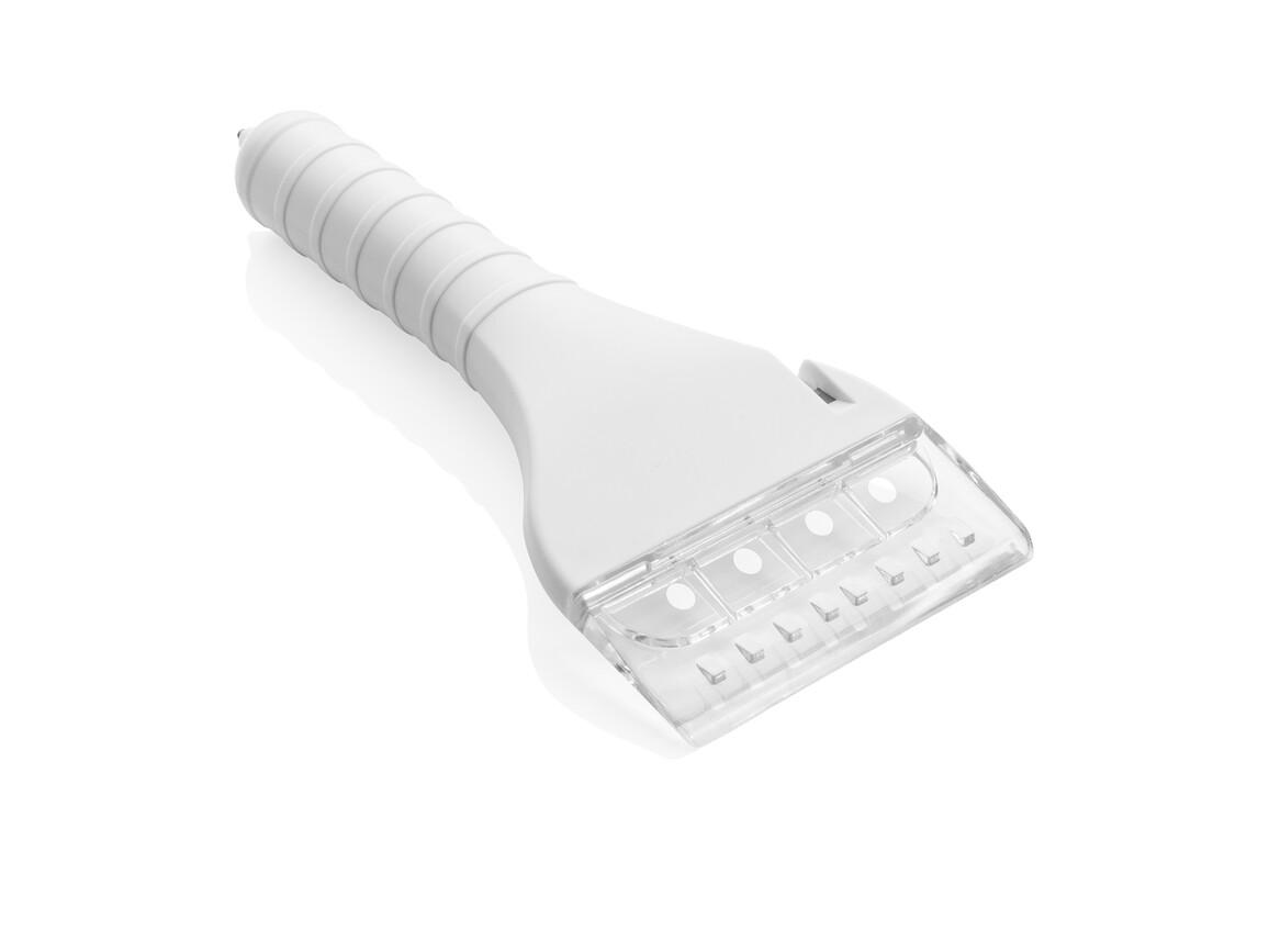 Eiskratzer mit COB-Licht und Sicherheitsfunktion weiß bedrucken, Art.-Nr. P239.123