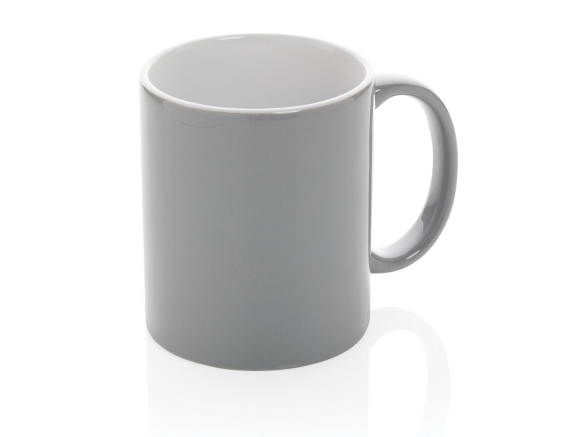 Basic Keramiktasse grau bedrucken, Art.-Nr. P434.012