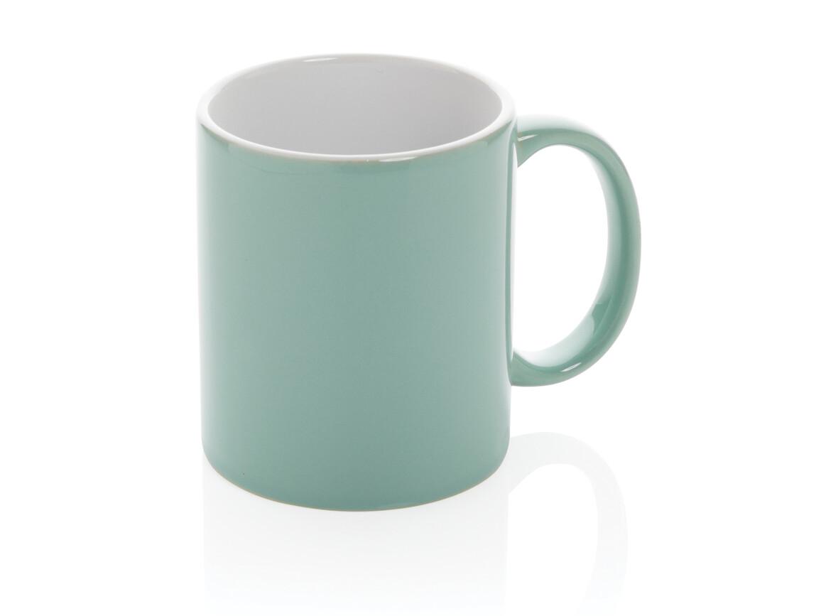 Basic Keramiktasse grün bedrucken, Art.-Nr. P434.017