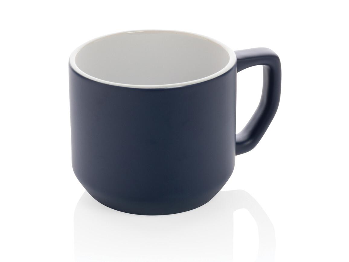 Moderne Keramiktasse navy blau bedrucken, Art.-Nr. P434.045