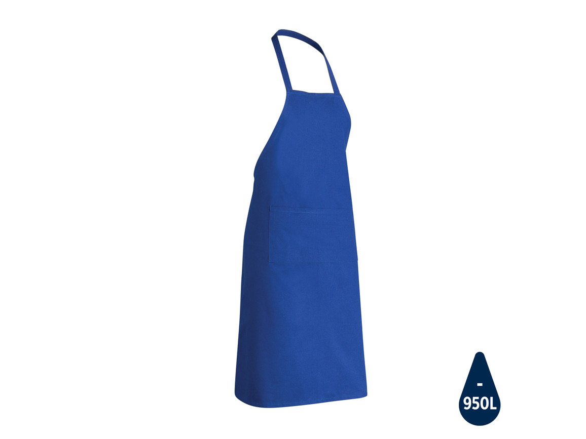 Impact AWARE™ recycelte Baumwollschürze 180gr blau bedrucken, Art.-Nr. P262.845