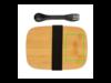 Stainless Steel Lunchbox mit Bambus-Deckel und Göffel silber bedrucken, Art.-Nr. P269.622